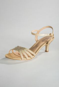 Low Heel Sparkle and Rhine Sandal from Camille La Vie and Group USA