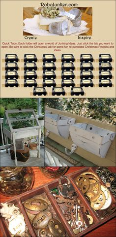 DIY   UPCYCLING :: robojunker.com (a.k.a. robomargo.com) :: All kinda of project ideas for upcycling things like lamps, windows, doors, china, benches, baskets, & other yard sale finds! Her blog (robolady.blogspot.com) is also worth checking out!   #robojunker