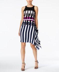 Alfani Printed Asymmetrical Dress, Only at Macy's   macys.com