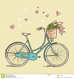 Vintage Bicycle With Flowers - Download From Over 28 Million High Quality Stock Photos, Images, Vectors. Sign up for FREE today. Image: 29125456