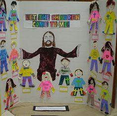 Let the children come to Me! Cute idea. #kidmin
