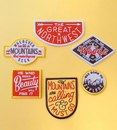 Graphic Design - Graphic Design Ideas - The Great Northwest Patch Set by Kimberlin Co. on Scoutmob Shoppe Graphic Design Ideas : – Picture : – Description The Great Northwest Patch Set by Kimberlin Co. on Scoutmob Shoppe -Read More – Badge Design, Logo Design, Graphic Design, Icon Design, Pin And Patches, Iron On Patches, Jacket Patches, Typographie Fonts, Diy Vetement
