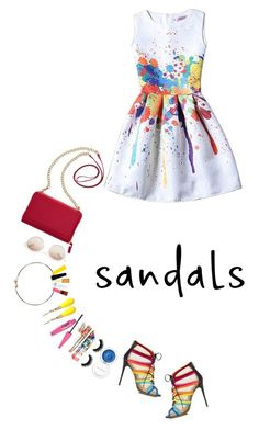 """""""The Cutest Summer Sandals   24 May 2016"""" by kristinksn ❤ liked on Polyvore featuring Salvatore Ferragamo, TravelSmith, self-portrait, INC International Concepts, Clinique and summersandals"""