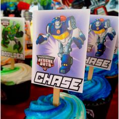 Rescue Bot Cupcake Toppers