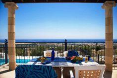 Greek Boutique @ GO Villas and Cottages Going On Holiday, Rhodes, Crete, Santorini, Villas, Design Inspiration, Cottage, Patio, Table Decorations