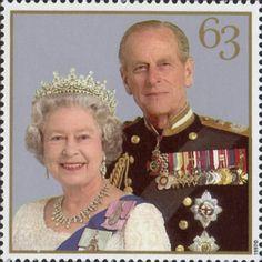 Royal Golden Wedding 63p Stamp (1997) Queen Elizabeth II and Prince Philip, 1997