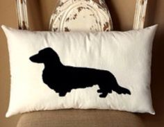 Long Haired Dachshund Throw Pillow   Etsy