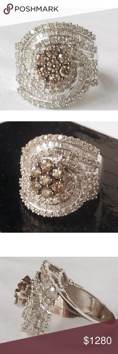 2.75 carat 10k white&chocolate diamond ring 2.75 carat 10k white&chocolate diamond ring Jewelry Rings