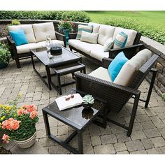 Elijah Patio Furniture.1299 One Color Elijah 4 Piece Deep Seating With Premium Sunbrella