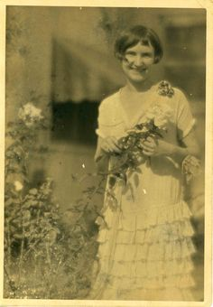 Edith Marie McCormack as a young lady at her home in Ithaca, Michigan.
