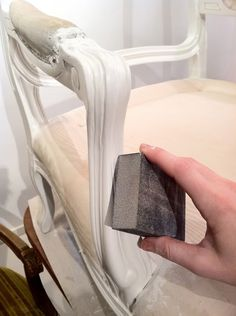 Painting the Frame on a Chair! *This is the best one. Chemical spray to get rid of the glossy varnish and step by step suggestions. Not the easy way out either.