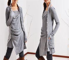 Minikleider - Langen Zöpfen Baumwolle Tunika-Set (Q1501) - ein Designerstück von idea2lifestyle bei DaWanda