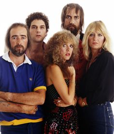 "Fleetwood Mac photographed in 1980 by David Montgomery for the cover of ""Hit Parader"" magazine."