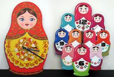 Matryoshka Clock | From Russia with Love!