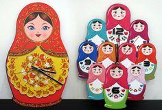 Matryoshka Clock | From Russia with Love!