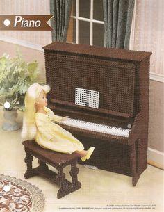 Fashion Doll Piano Plastic Canvas Pattern. $2.95, via Etsy.