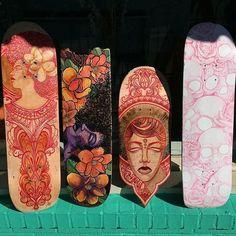 Artist: @lordyatta #skatedeckart #skateboardart #recycledskateboardart #lordyatta #brokenboardartshow  by brokenboardartshow
