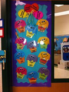 Classroom birthday door.
