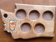 10 Fathers Day Gifts Under $50.00 - Beer Tasting Tray by State, $40.00. Order this here: http://blog.aftcra.com/blog/10-fathers-day-gifts-under-50-made-in-america-and-handmade/