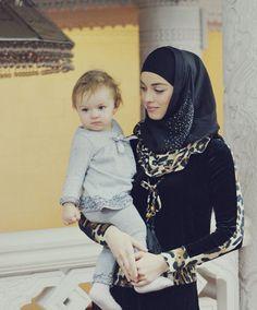 Hey guys, Today i'm posting something strange related to Hijab girls styles & fashion. Well in the evening, i was thinking how would my future Beautiful Hijabi Arab Women, Muslim Women, Muslim Couples, Hijab Fashion, Girl Fashion, Muslim Fashion, Baby Hijab, Cute Kids Photos, Beautiful Hijab Girl