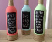 More painted wine bottles.. Love this idea