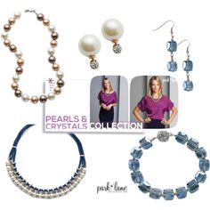 """Pearls and Crystals"" by parklanejewelry on Polyvore  #funwithbling myparklane.com/mogara"