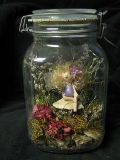 Fairy in a Jar Night Light by PenelopesClosets on Etsy, $55.99