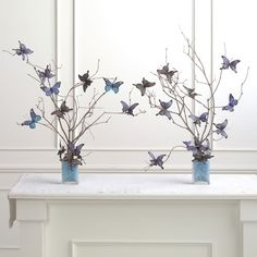 branches and butterflies.