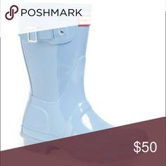 Hunter gloss rain boots Original light blue gloss rain boot Hunter Boots Shoes Winter & Rain Boots