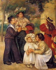 """""""The Artist's Family"""", Pierre Auguste Renoir (1896), The Barnes Foundation, Painting - oil on canvas"""