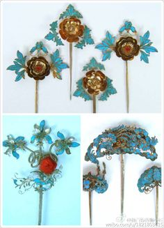 Kingfisher, Hairpin, Jewelery, Feather, Asia, Chinese, Ornaments, Hair, Jewlery