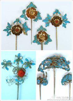 Kingfisher, Hairpin, Jewelery, Feather, Asia, Chinese, Ornaments, Jewlery, Jewels