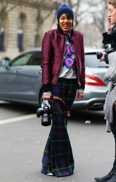Tamu McPhearson Mixed Patterns | Street Fashion | Street Peeper | Global Street Fashion and Street Style