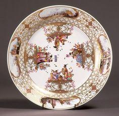 Attributed to Christian Friederich Herold | German | 1700-1779 Meissen Porcelain Manufactory | German date1730-1735 hard paste porcelain, polychrome enamels, gildi