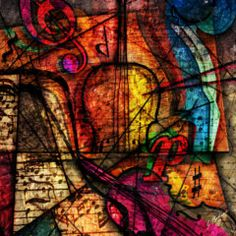 Violin Digital Art - Abstracta_08 Symphony by Gary Bodnar