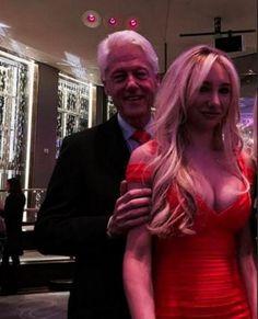 bill clinton & girlfriend   Catsimatidis pictured of her in grips of former President Bill Clinton ...