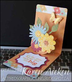 A cheerful floral Pop 'n Cut card!