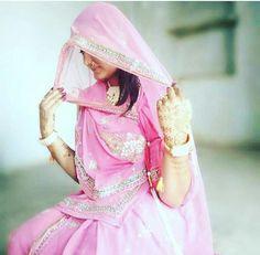 Baisa Raj .. Ghunghat.. lovely pink poshak.. Royal Rajputana