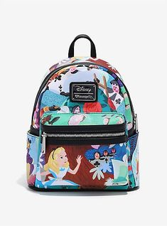 Loungefly Disney Alice In Wonderland Mary Blair Mini Backpack - BoxLunch Exclusive Disney Handbags, Disney Purse, Purses And Handbags, Mini Backpack Purse, Small Backpack, Disfraz Lilo Y Stitch, Cute Mini Backpacks, Mini Mochila, Girls Bags