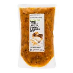 Fresh Harissa Chicken, Pumpkin & Quinoa Soup 600g   Woolworths.co.za Pumpkin Quinoa, Chicken Pumpkin, Harissa Chicken, Quinoa Soup, Food Preparation, Meals, Fresh, Meal, Food