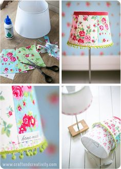 http://www.manualidadesgratis.es/decorar-una-lampara/