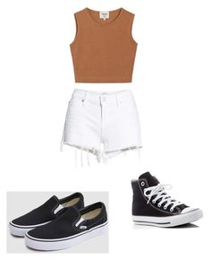 """""""Summa """" by ashmargaret on Polyvore featuring Hudson Jeans, Samuji, Vans and Converse"""