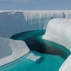 ice canyon, greenland  #Greenland #landscape #ice