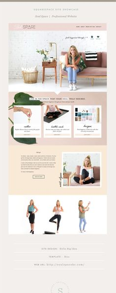 Web Design Site Showcase: Soul Space — Squarespace Design Guild How Do I Get My Child to Be Polite? Web Design Trends, Design Websites, Web Design Quotes, Web Design Tips, Creative Design, Layout Design, Design Logo, Design Poster, Design Design