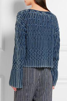 Chloé | Cable-knit cotton sweater | | Stitch | Pinterest | Cotton ...