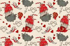 I just released Seamless Vintage pattern with ship on Creative Market.