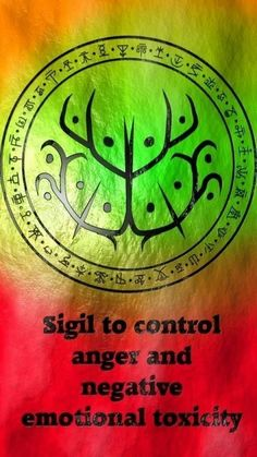 ☽✪☾ Sigil to control anger & negative emotional toxicity Wiccan Spells, Magic Spells, Witchcraft, Luck Spells, Wiccan Symbols, Magic Symbols, Astral Projection, White Magic, Book Of Shadows