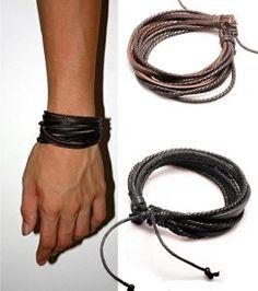 2-Pack Leather Black & Brown Bracelets - Adjustable Wristband - Great For Men, Women, Teens, Boys, Girls http://electmejewellery.com/jewelry/bracelets/2pack-leather-black-brown-bracelets-adjustable-wristband-great-for-men-women-teens-boys-girls-com/