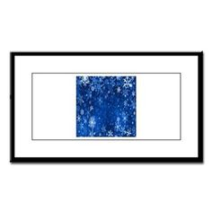 Snowflakes_Background_Texture Small Framed Print