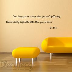 Love and Dreams Dr. Seuss Wall Quote | Decaleco
